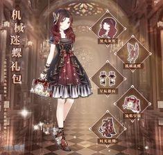 Anime Outfits, Dress Outfits, Girl Outfits, Fashion Dresses, Dress Up, Nikki Love, Anime Dress, Dress Drawing, Anime Princess