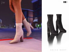 a high-heeled boot with (optional) ribbed detailing. Found in TSR Category 'Sims 4 Shoes Female' Mods Sims, Sims 4 Game Mods, Sims 4 Mods Clothes, Sims 4 Clothing, Sims 4 Cas, Sims Cc, Sims Stories, Pelo Sims, Sims 4 Cc Shoes