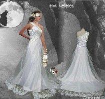 vestido de novia tipo élfico-hada