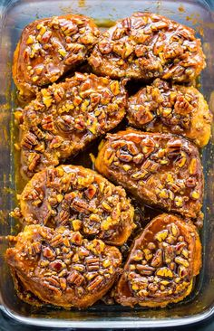 Overnight Pecan Pie French Toast! #pecan #frenchtoast #breakfast #brunch #Thanksgiving