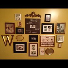 Mom did a family photo wall, looks great!