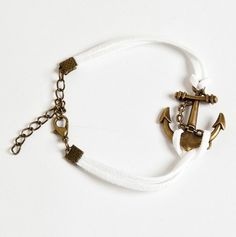 Anchor Charm Bracelet. Someone buy me this!