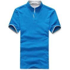 Men's T-shirt Classic Solid Color Men Lapel Polo Shirt Short Sleeve Tee T-shirt