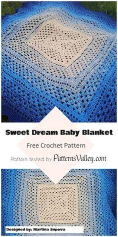 Sweet Dream Baby Blanket - Free Crochet Pattern #babyblanket #freecrochetpatterns #crochet #homemade #giftideas