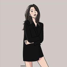 40 Trendy line art drawings illustration Girl Cartoon, Cartoon Art, Cute Cartoon, Illustration Girl, Character Illustration, Liz Clements, Korean Art, Couple Art, Cartoon Wallpaper