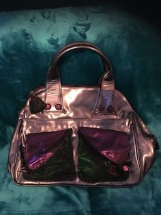 e7ee8caa84f8 Irregular Choice Purple Metallic Bag Unused Unusual