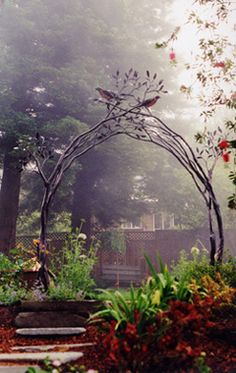 Forged and fabricated steel tree branch trellis 8' tall x 8' wide (by Shawn Lovell)