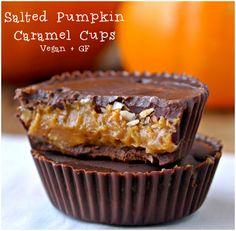 Salted Pumpkin Caramel Cups - Vegan and Gluten Free