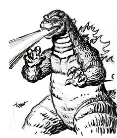 godzilla silhouette vector free clipart best godzilla rh pinterest com Godzilla 1954 godzilla clipart black and white
