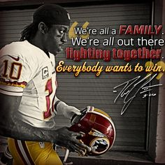 Words from RGIII. #HTTR Redskins Football, Redskins Fans, Football Team, Football Stuff, College Bowl Games, College Fun, Nfl Quotes, Baseball Tournament, Nfl Memes