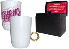 TAZZA ANELLO MAMMA. Per la tua mamma,graziosa tazza in ceramica di colore bianca con scritta di colore rosa