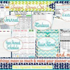 Set of Homeschool Curriculum Printables {Homeschool}