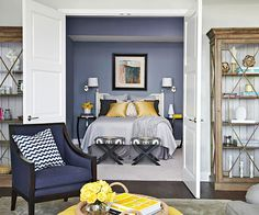 A homeowner's closet provided the design inspiration for this small modern condo! See the rest of this home: http://www.bhg.com/decorating/small-spaces/apartments/modern-condo/#page=2
