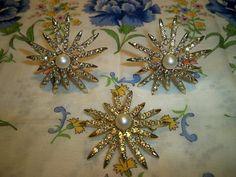 Vintage Emmons Rainbow Star Brooch and Earrings Book by BlackRain4