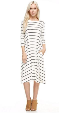 Kinsley Striped Pocketed Dress