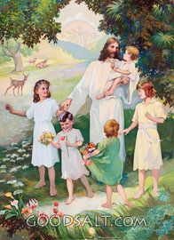 Jesus in Heaven With Children
