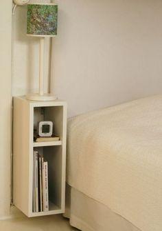 Resultado de imagen para respaldo de cama con mesa de luz flotante