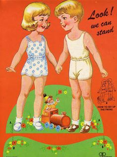 Bonecas de Papel: Jane and John