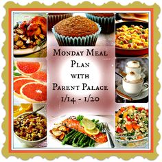 Monday Meal Plan (1/14 - 1/20) Optimized for #Diet & #WeightLoss Low Glycemic Index Style!