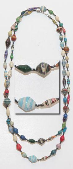 Uganda Magazine Bead Necklace