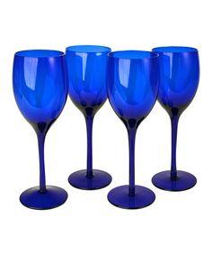 Another great find on #zulily! Artland Midnight Blue Wine Glass - Set of Four by Artland #zulilyfinds