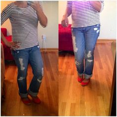 Abercrombie and fitch distress boot cut jeans Light wash distress jeans. Its a boot cut buy i love wearing it as a boyfriend jeans.  Worn 2 more life left Abercrombie & Fitch Jeans Boot Cut