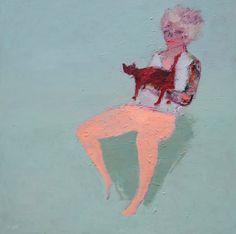 Jasmine and her - acrylic on canvas - 2014 - 120 x 120 cm