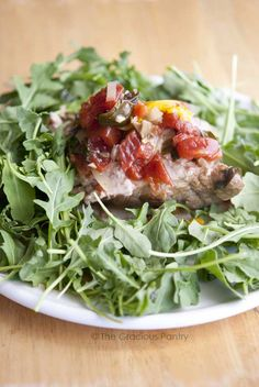 Slow Cooker Clean Eating Pork Provencal from @GraciousPantry