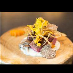 "Shun on Instagram: ""Ceder Beef-- Slow cooked Wagyu beef 'oyster blade' with shiitake truffle red wine sauce . #armaniaqua #aquatokyo #foodstarz #foodart #foodstyling #foodphotography #top_food_of_instagram #chefstalk #chef #cheflife#wagyu#gastroart#aki#foodporn#hkfood#healthy#foodie#ceder"""