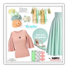 """Mint plus Peach"" by freida-adams ❤ liked on Polyvore featuring Chicwish, Miss Selfridge, Music Notes, Love Quotes Scarves, A.X.N.Y., Kate Spade, phonecase and AtelierBriella"