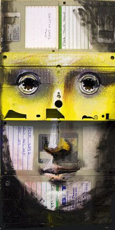 Nick Gentry: an artist who uses floppy disks, cassettes and VCR tapes to make pictures