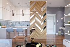 house interior design Source by spaziointeriors Kitchen Wall Design, Wood Wall Design, Wall Panel Design, Column Design, Partition Design, Home Decor Kitchen, Interior Desing, Interior Exterior, Room Interior