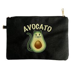 Avocado Avocato Cat (kitten, Kitty) Pet Ladies Canvas Pouch Bag >>> Check this useful article by going to the link at the image. #ClutchHandbags