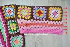 Granny Squares Cardigan Pattern (Work In Progress) Crochet Jacket Pattern, Crochet Bikini Pattern, Crochet Coat, Crochet Quilt, Granny Square Crochet Pattern, Afghan Crochet Patterns, Crochet Motif, Hippie Crochet, Granny Squares