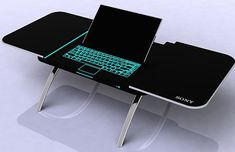 - Sony fusion coffee table can be converted into a workstation just by pushing a button, the top section of the table automatically splits in half and LED outlined touch sensitive keyboard, adjustable screen and DVD drive appear. Cool Technology, Technology Gadgets, Latest Technology, Computer Gadgets, New Gadgets, Cool Gadgets, Iphone 7 Plus, Nintendo, Tech Toys