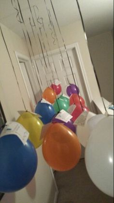 14 yr old birthday. 14 balloons with tags of reasons why I am blessed, proud and thankful to have you as my child. Hung in front of door night before birthday. Woke her up early to read...made comments short for quick reading...13th balloon I am blessed proud and thankful you are my daughter. ..14th balloon said I hope you see how special you are Happy birthday!!