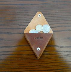 Outpost Leathergoods leather triangle coin purse