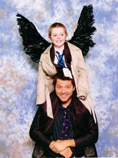 Misha and Little Trench Coat Winged Angel