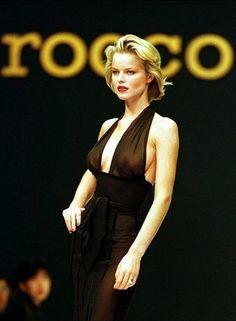 Rocco Barocco - Autumn Fall Winter 1997 1998 - Milan Fashion Week - March 1997 - eva herzigova