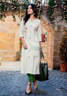 ebb48bea72 Buy Designer S4U Shivali Kurti Kurta Cotton, Khadi Kurta, Kurti Styles,  Punjabi Dress