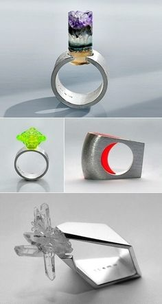 Rings by Stockholm-based Romanian jeweller Kuki Constantinescu. jewellery-box-rings beauty beauty
