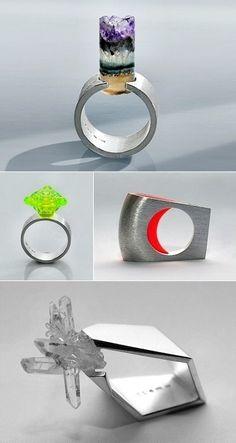 Rings by Stockholm-based Romanian jeweller Kuki Constantinescu. jewellery-box-rings beauty beauty