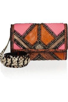 Jimmy Choo- cailin patchwork clutch...why don't more clutches have an attached cuff?? :D