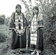 Cheyenne girls. ca. 1901-1911. Montana. Photo by N.A. Forsyth. Source - Montana Historical Society.