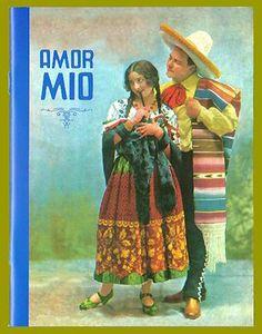Mexican calendar art lined notebook