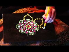 How to Paint Dot Mandalas Dot Painting, Dots, Canvas, Youtube, Mandalas, Stitches, Tela, Pointillism, Canvases