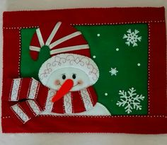 Christmas Decorations, Christmas Ornaments, Holiday Decor, Snowman Quilt, Christmas Placemats, Mug Rugs, Table Toppers, Paint Designs, Fabric Painting