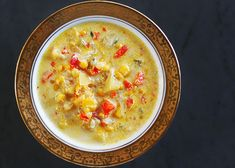 Corn Chowder Recipe Soups with unsalted butter, bacon, yellow onion, carrots, celery ribs, sweet corn kernels, bay leaf, milk, yukon gold potatoes, red bell pepper, ground pepper, kosher salt, fresh thyme leaves