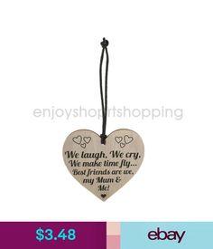 Plaques & Signs Best Friends My Mum & Me Novelty Wooden Hanging Heart Shape Plaque Love Sign #ebay #Home & Garden