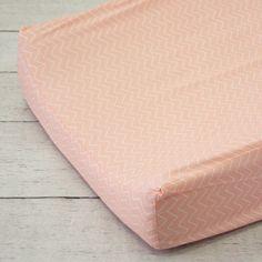 Caden Lane Baby Bedding - Changing Pad Cover - Coral Chevron, $38.00 (http://cadenlane.com/changing-pad-cover-coral-chevron/)